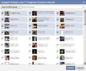 facebook invite toggle all