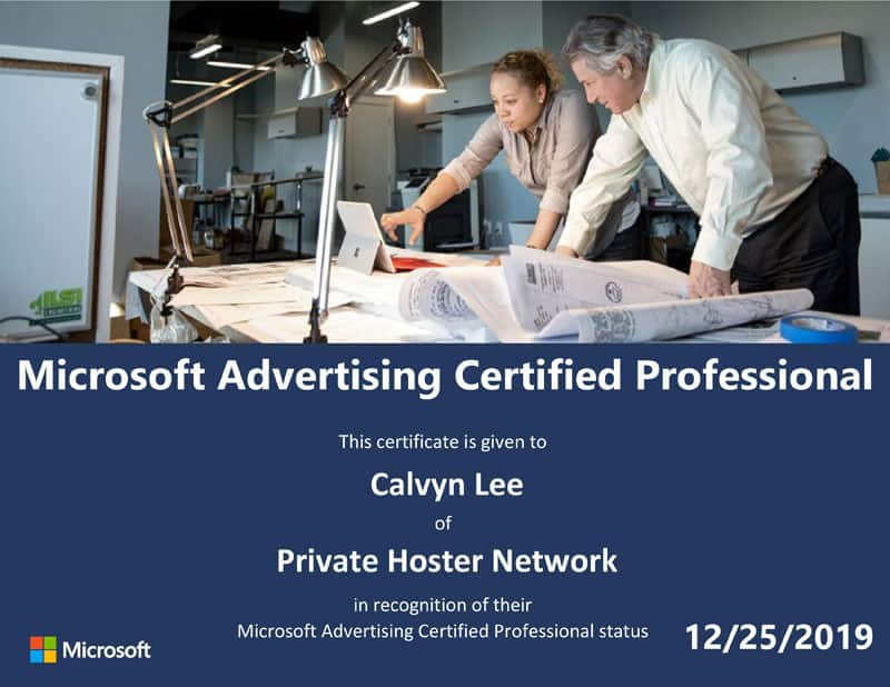 Microsoft Advertising Certified Professional