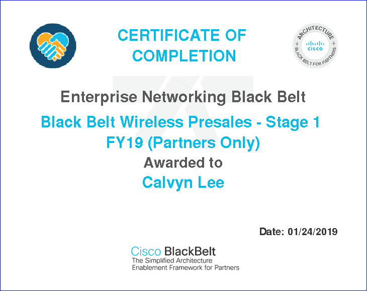 Cisco BlackBelt Wireless Stage1 Certificate