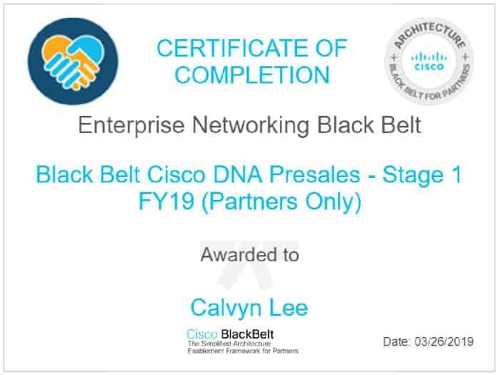 Cisco Black Belt for SDA Pre-Sales Stage 1 Quiz - Digital