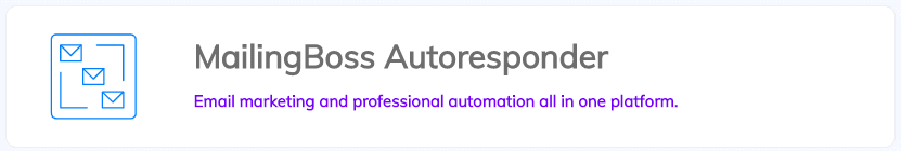 MailingBoss Autoresponder