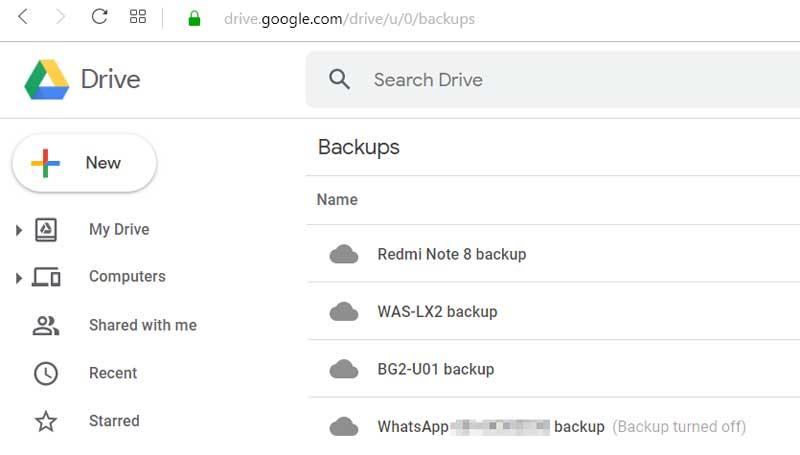 turn off whastapp backup