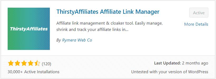 thirsty affiliate plugin