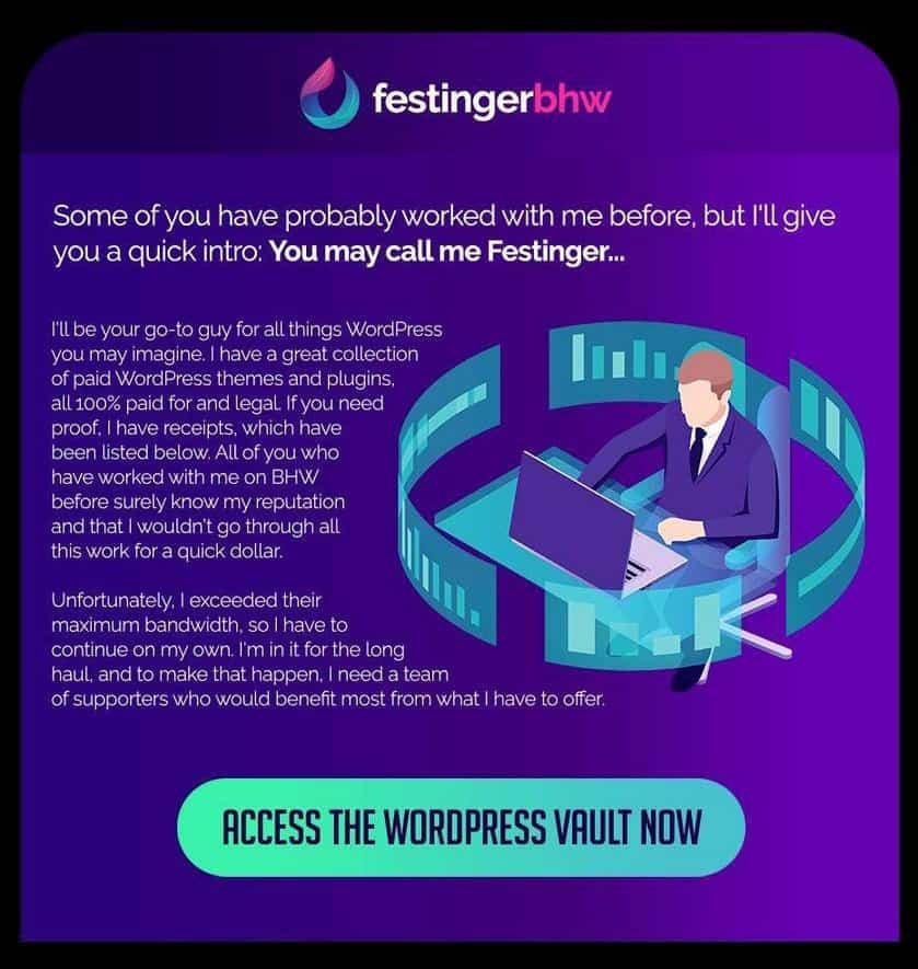 WordPress Premium Vault FestingerBHW