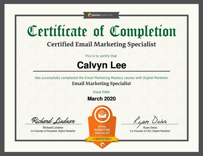 Email Marketing Specialist Certificate